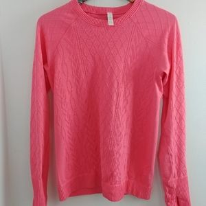 Lululemon long sleeve ribbed thermal Coral Size 10